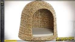 Panier / niche pour petit chien ou chat en tressage de fibres naturelles Ø 40 cm
