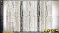 Grand tapis boho en coton à motifs ethniques 2,3 mètres par 1,6 mètre