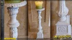 Grand chandelier blanc antique