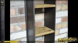 Etagère murale verticale bois et métal style industriel et rétro 72 cm