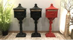 Boîtes aux lettres anglaise d'antan coloris noir en aluminium