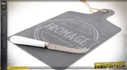 Planche à découper en ardoise, plateau de présentation, pour fromages 36 cm