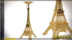 Chandelier en métal en forme de tour Eiffel dorée 37 cm