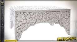table basse wagonnet style industriel bois massif et m tal. Black Bedroom Furniture Sets. Home Design Ideas