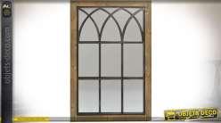 Miroir d co murale fen tre avec volets persiennes for Miroir style fenetre