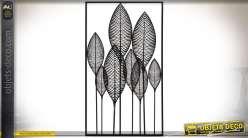 Fleur Geante Et Doree En Metal Pour Decoration Murale