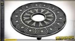 Dessous de plat en fonte à motifs gravés en frises Ø 13 cm