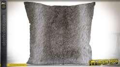 Série de 2 coussins en polyester imitation fourrure lièvre 45 x 45 cm