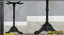 Pied de table en fonte, collection Bistrot, finition noir, modèle Gloriana