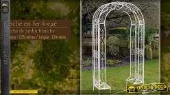 Arche de jardin blanche en fer forgé