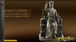 Statuette La Justice finition bronze antique