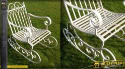 Rocking chair vintage en fer forgé