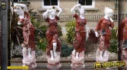 Collection de statues en marbre Les 4 saisons