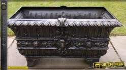 Bac à fleurs luxe finition bronze antique