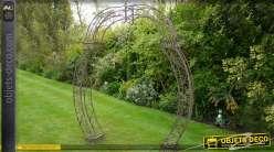Arche en fer forgé 2,35 mètres couleur marron