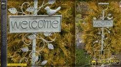 Fourche décoration de jardin en métal