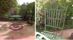 Salon de jardin 2 personnes vert antique