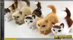 Lot de 5 petits chats décoratifs