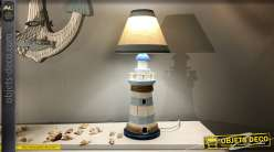 Lampe de table en forme de phare de mer 43 cm