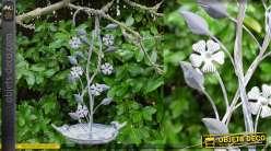 Bain d'oiseau en métal, collection Bath'Bird, modèle à suspendre 41cm