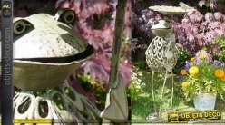 Bain d'oiseau en métal, collection Bath'Bird, modèle à poser 85cm