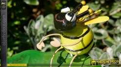 Bain d'oiseau en métal, collection Bath'Bird, modèle à piquer, abeille 81cm