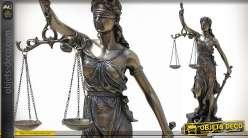 Statuette La Justice finition bronze antique 33 cm