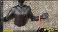 Crochet mural en métal, collection Varappeurs, finition vieille fonte, modèle 5