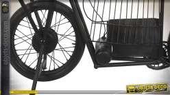 Console bar porte-bouteilles style moto vintage en bois et métal 157 cm