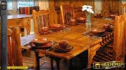 Grande Table De Salle A Manger Rustique Avec Rallonges
