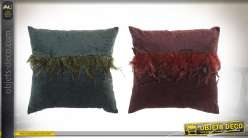 COUSSIN POLYESTER 45X45 420 GR. PLUMES 2 MOD.