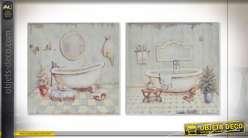 TABLEAU BOIS 20X3X20 BAIN 2 MOD.