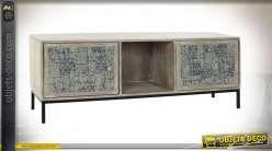 MEUBLE TV MANGUE COTON 150X40X56