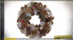 COURONNE ANANAS POLYSTYRENE 34X34X8.5 FEUILLES