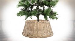 Base d'arbre de Noël en rotin finition naturelle, Ø 45cm