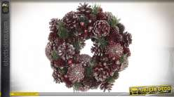 COURONNE ANANAS POLYSTYRENE 26X26X7.5 VIOLET