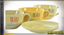 CAFÉ SET 6 GRES 24X23X22 180ML. BAHAMAS 3 MOD.