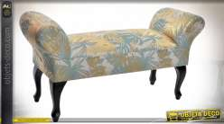 BANQUETTE POLYESTER LIN 118X39X60 11,5 PALMIER