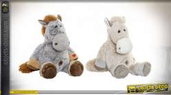 PELUCHE POLYESTER 40X54X40 CHEVAL 2 MOD.
