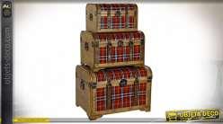 COFFRE SET 3 PEUPLIER 61X43X42,5 TABLEAUX