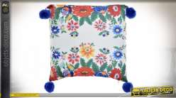 COUSSIN POLYESTER 45X45 520 GR. FLORAL MULTICOLORE