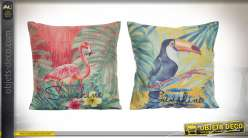COUSSIN POLYESTER 45X45 480 GR. TROPICAL 2 MOD.