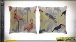 COUSSIN POLYESTER 45X45 530 GR. TROPICAL 2 MOD.