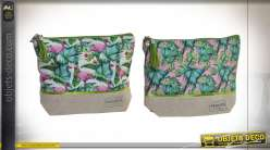 TROUSSE DE TOILETTE COTON 21X7X15,5 TROPICAL 2 MOD