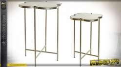 TABLE AUXILIAIRE SET 2 MÉTAL 40X40X56 TR FLE
