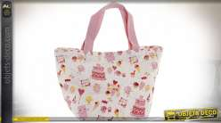 SAC TOILE 34X14X32 SUPERSWEET ROSE