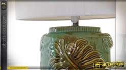 LAMPE DE TABLE CÉRAMIQUE 38X38X67 67 FEUILLE