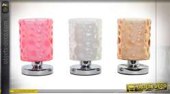 LAMPE DE TABLE ACRYLIQUE 20X22 CERCLES 3 MOD.