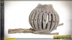 LAMPE DE TABLE SAUCE 65X38X40 TRONC NATUREL