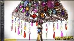 LAMPE DE TABLE MÉTAL ACRYLIQUE 25X25X51 CUIVRÉ